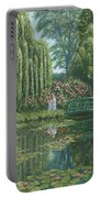 Giverny Reflections Portable Battery Charger by Richard Harpum