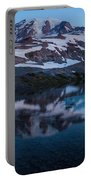 Glacial Rainier Morning Reflection Portable Battery Charger