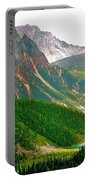 Glacier Area By Mount Edith Cavelle In Jasper Np-alberta Portable Battery Charger