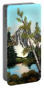 Glacier Peak After Bob Ross Portable Battery Charger by Barbara Griffin