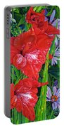 Gladiola And Echinacea Portable Battery Charger