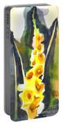 Gladiolas In Wintertime Portable Battery Charger