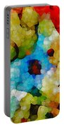 Glass Art Abstract Portable Battery Charger