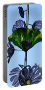 Glass Hollyhocks Portable Battery Charger