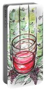 Glass Rosy Wine Portable Battery Charger