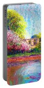 Glastonbury Abbey Lily Pool Portable Battery Charger