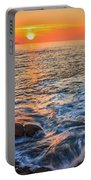 Gleaming Fire At Coitelada Galicia Spain Portable Battery Charger