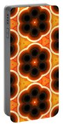 Glowing Floral Pattern Portable Battery Charger