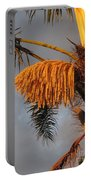 Glowing Palm Blossoms Portable Battery Charger