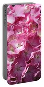 Glowing Pink Hydrangea Portable Battery Charger
