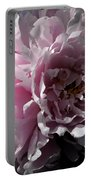 Glowing Pink Peony Portable Battery Charger