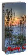 Glowing Sea Oats Sunrise Portable Battery Charger