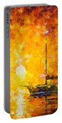 Glows Of Passion - Palette Knife Oil Painting On Canvas By Leonid Afremov Portable Battery Charger