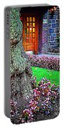 Gnarly Tree With Flowers Portable Battery Charger