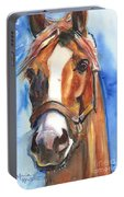 Horse Painting Of California Chrome Go Chrome Portable Battery Charger