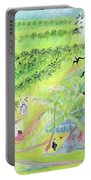 Goa, India, 1998 Oil On Paper Portable Battery Charger