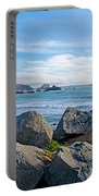Goat Rock State Beach Near Russian River Outlet Near Jenner-ca Portable Battery Charger