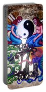 God And Gaia Portable Battery Charger by Genevieve Esson