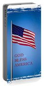God Bless America Flag Portable Battery Charger
