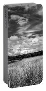 God's Country In Monochrome Portable Battery Charger