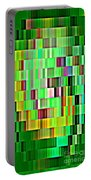 Going Green Geometric Abstractions Colorful Creations Designer Phone Cases 123 Carole Spandau Portable Battery Charger