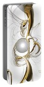 Gold And Pearl Portable Battery Charger