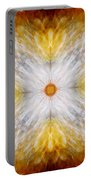Gold And White Light Mandala Portable Battery Charger