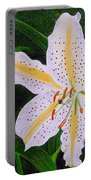 Gold Band Lily Portable Battery Charger