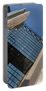Gold Black And Blue Geometry - Royal Bank Plaza Portable Battery Charger