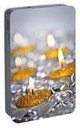 Gold Christmas Candles Portable Battery Charger