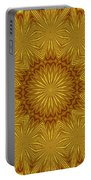 Gold Flowers Portable Battery Charger