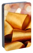 Gold Gift Bow With Festive Lights Portable Battery Charger