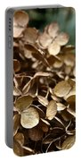Gold Hydrangea Portable Battery Charger