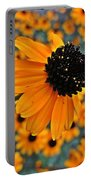 Gold Rudbeckia Blooms Portable Battery Charger