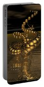 Gold Serpentine  Portable Battery Charger