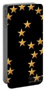 Gold Stars Abstract Triptych Part 2 Portable Battery Charger by Rose Santuci-Sofranko
