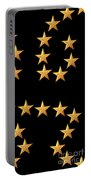 Gold Stars Abstract Triptych Part 3 Portable Battery Charger