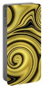 Gold Swirl Portable Battery Charger