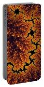 Golden And Black Fractal Universe Portable Battery Charger