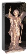 Golden Angel In The Night Portable Battery Charger