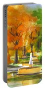 Golden Autumn Day Portable Battery Charger