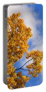 Golden Autumn Leaves And Blue Sky Portable Battery Charger