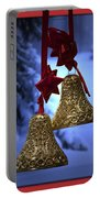 Golden Bells Red Greeting Card Portable Battery Charger