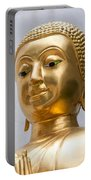 Golden Buddha Statue Portable Battery Charger by Antony McAulay