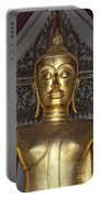 Golden Buddha Temple Statue Portable Battery Charger by Antony McAulay