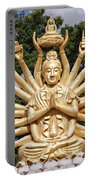 Golden Buddha With Many Arms Portable Battery Charger