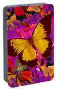 Golden Butterfly Painting Portable Battery Charger