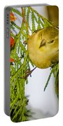Golden Christmas Finch Portable Battery Charger