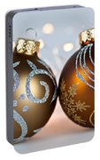 Golden Christmas Ornaments Portable Battery Charger