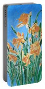 Golden Daffodils Portable Battery Charger